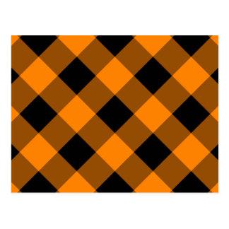 Modelo negro y anaranjado de la guinga postales