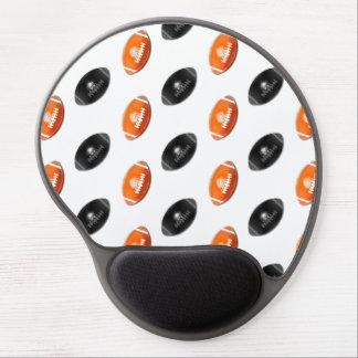 Modelo negro y anaranjado del fútbol alfombrillas de ratón con gel