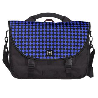 Modelo negro y azul comprobado bolsas de portátil