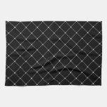 Modelo negro y blanco del arte toallas