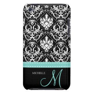Modelo negro y blanco elegante del damasco con el  Case-Mate iPod touch funda