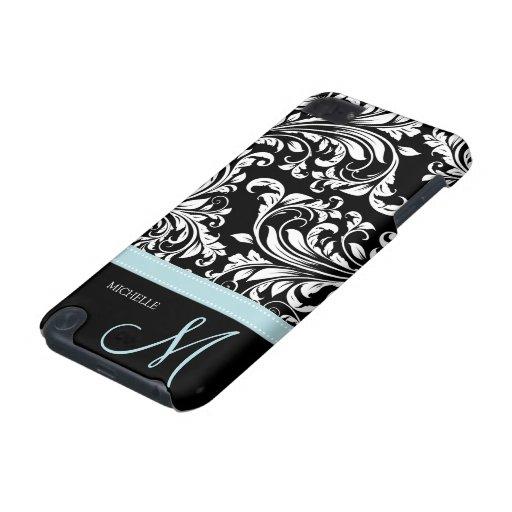 Modelo negro y blanco elegante del damasco con el  funda para iPod touch 5G