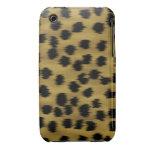 Modelo negro y de oro de la impresión del guepardo Case-Mate iPhone 3 protectores