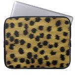Modelo negro y de oro de la impresión del guepardo mangas portátiles