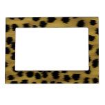 Modelo negro y de oro de la impresión del guepardo marcos magnéticos