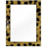 Modelo negro y de oro de la impresión del guepardo pizarra blanca