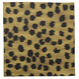 Modelo negro y de oro de la impresión del guepardo servilletas de papel