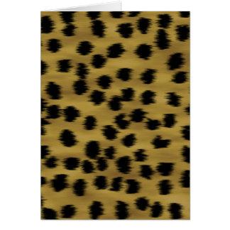 Modelo negro y de oro de la impresión del guepardo tarjeta pequeña