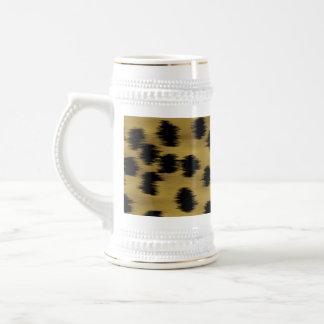 Modelo negro y de oro de la impresión del guepardo tazas
