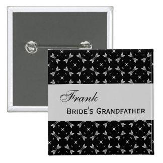 Modelo negro y de plata del PAPEL DE ENCARGO del B Pins