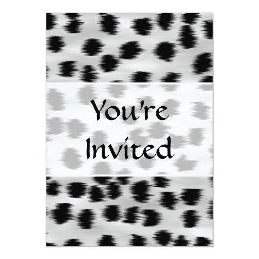 Modelo negro y gris de la impresión del guepardo invitación 12,7 x 17,8 cm