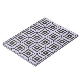 Modelo negro y gris de los cuadrados libretas espirales