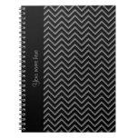 Modelo negro y gris elegante del galón cuaderno