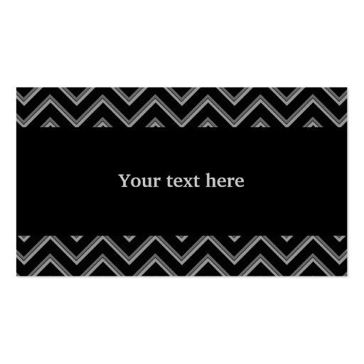 Modelo negro y gris elegante del galón tarjeta de negocio