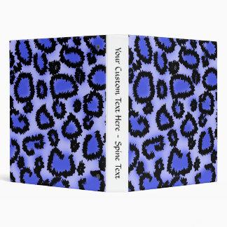 Modelo negro y Púrpura-Azul del estampado leopardo