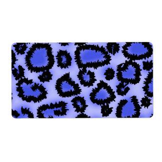 Modelo negro y Púrpura-Azul del estampado leopardo Etiquetas De Envío