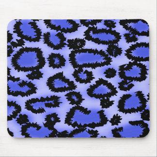 Modelo negro y Púrpura-Azul del estampado leopardo Alfombrilla De Raton