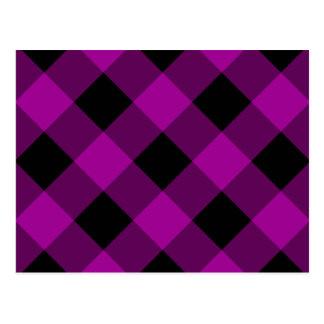 Modelo negro y púrpura de la guinga postales
