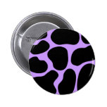 Modelo negro y púrpura de la impresión de la vaca pins