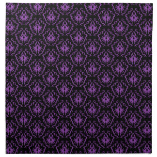 Modelo negro y púrpura del damasco. Gótico Servilleta Imprimida