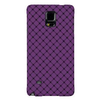 Modelo negro y púrpura gótico funda galaxy note 4
