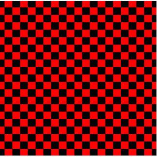Modelo negro y rojo del tablero de damas fotoescultura vertical