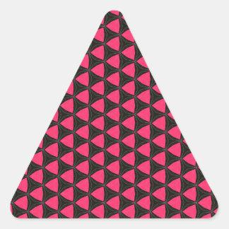 Modelo negro y rosado del hexágono del triángulo pegatina triangular