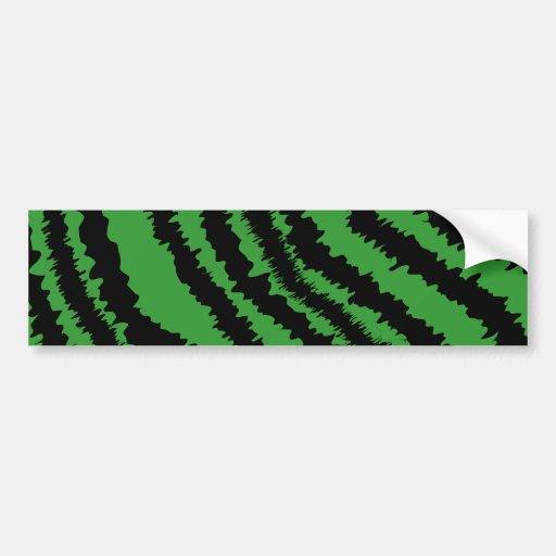 Modelo negro y verde abstracto de la impresión de  pegatina de parachoque