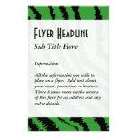 Modelo negro y verde abstracto de la impresión de  tarjeta publicitaria