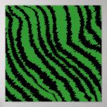Modelo negro y verde abstracto de la impresión de  impresiones