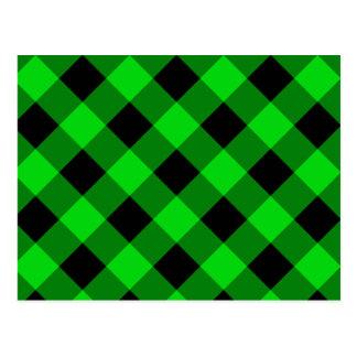 Modelo negro y verde de la guinga tarjetas postales