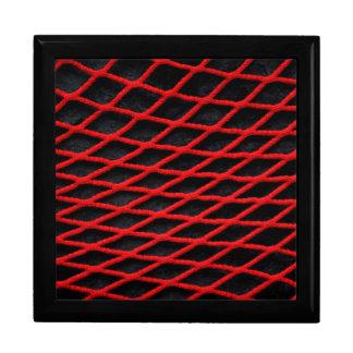 Modelo neto rojo caja de joyas