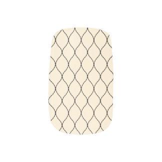 Modelo neutral elegante de la red del color pegatinas para uñas