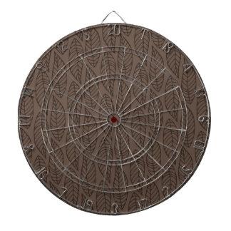 Modelo No.1 - color Brown de la hoja Tablero De Dardos