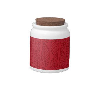 Modelo No.1 - rubí de la hoja del color Plato Para Caramelo