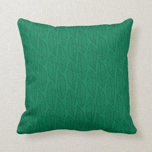 Modelo No.1 - verde de la hoja del color Cojín