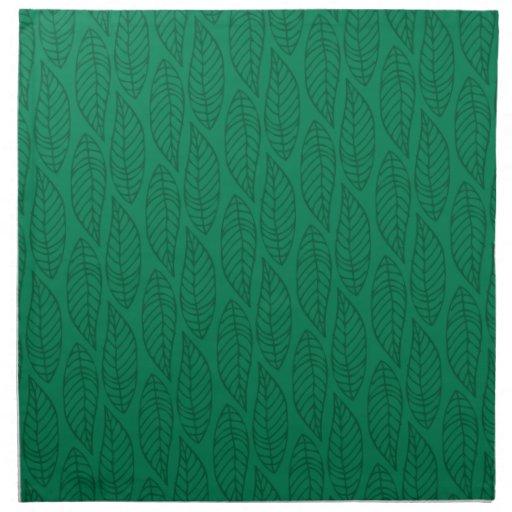 Modelo No.1 - verde de la hoja del color Servilleta