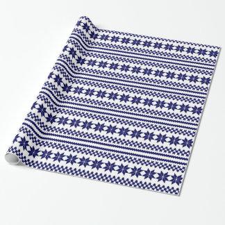 Modelo nórdico del suéter del navidad de los papel de regalo