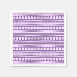 Modelo noruego blanco púrpura del suéter del servilleta de papel