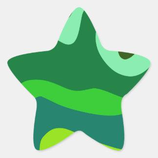Modelo ola pattern waves pegatina en forma de estrella