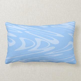 Modelo ondulado azul cojin