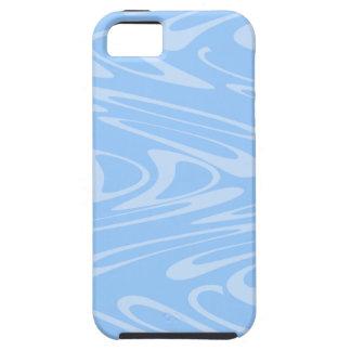 Modelo ondulado azul iPhone 5 funda