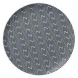 Modelo ondulado bonito en gris y verde claro platos para fiestas