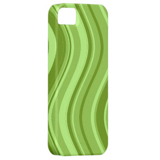 Modelo ondulado de las rayas de la verde lima iPhone 5 fundas