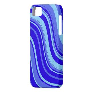 Modelo ondulado de las rayas del azul y de la iPhone 5 fundas
