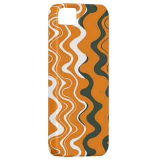 Modelo ondulado de las rayas del mar (naranja, iPhone 5 carcasa