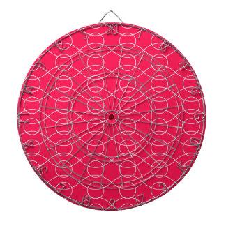 Modelo ondulado de las rosas fuertes tablero dardos