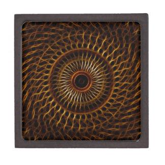 Modelo ondulado del fractal caja de recuerdo de calidad