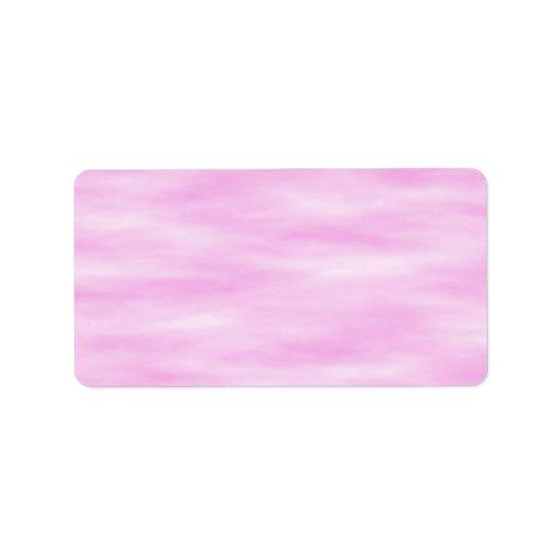 Modelo ondulado del rosa y blanco etiqueta de dirección