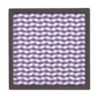 Modelo ondulado púrpura de las rayas caja de regalo de calidad